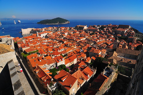 Old Town Dubrovnik from the City Walls