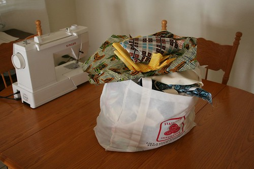 Giant bag of scrap fabric