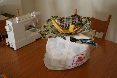 Giant bag of scrap fabric