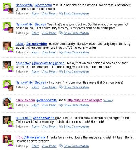 Slow Community Tweets 3