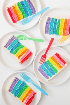 rainbow cake one charming party