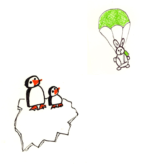 Penguins and Parachuting Rabbit