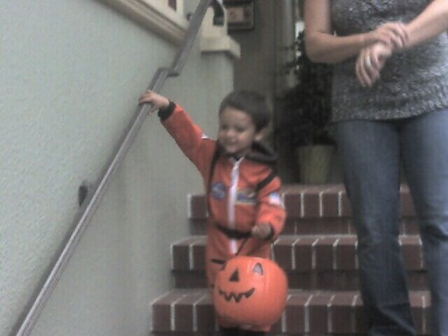Mason trick or treating for 1st time tonight