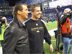 Harbaugh and Bisciotti celebrate Festivus