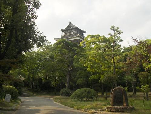 Long view of Hiroshima Castle, Hiroshima, Japan