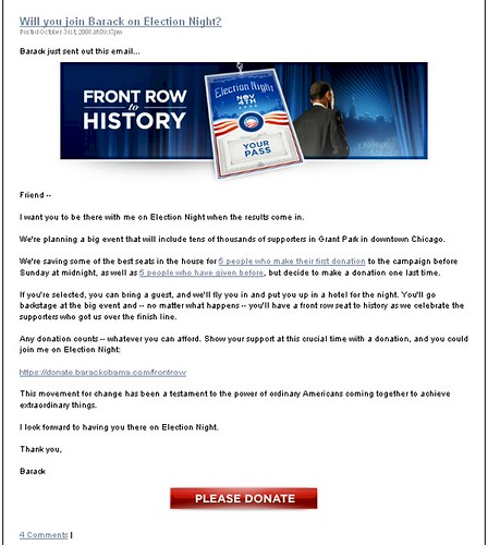 blackplanet.com/barack_obama - Blog Post Donate