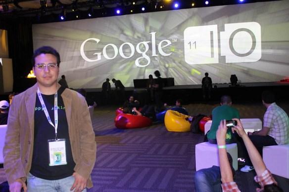 Gabriel Saldaña at Google IO after party