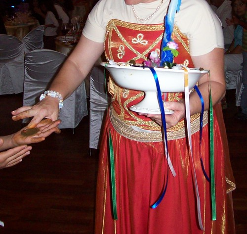 Brides Mother Applying Henna