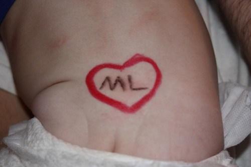 Maddie has a tramp stamp for Matt Lauer