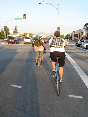 Taking the lane on Stevens Creek Blvd
