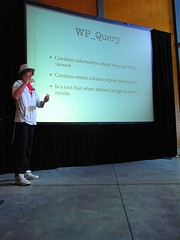 Harley Alexander talks about WP_Query (photo by Halans)
