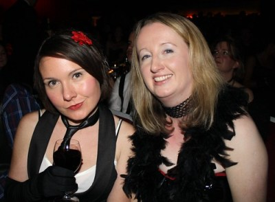 Liz and Niamh at Burlesque