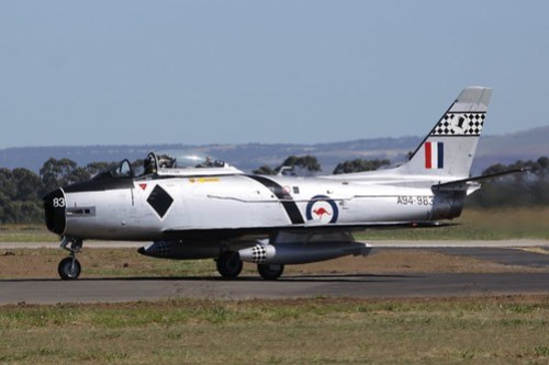 RAAF CA-27 Sabre on the taxiway