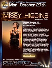 Missy Higgins flyer