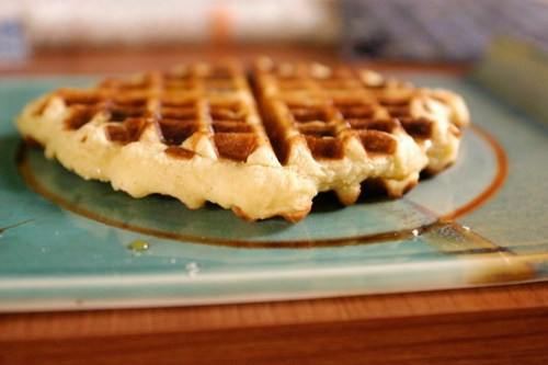 GLUTEN-FREE CORNY WAFFLES , adapted from Joy of Cooking