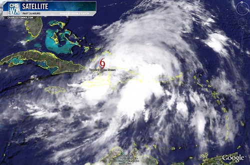 Tropical Storm Hanna at 11PM 09/02:  Satellite