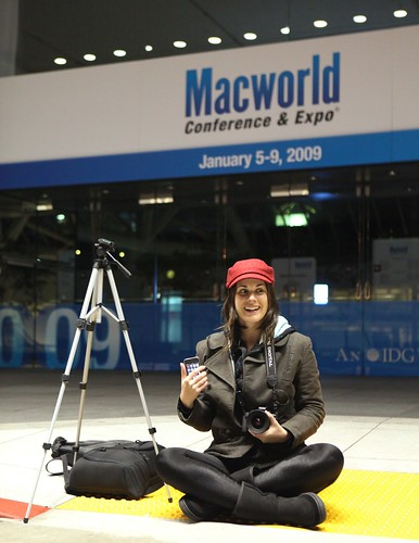 Mostly 1st in Line at Macworld