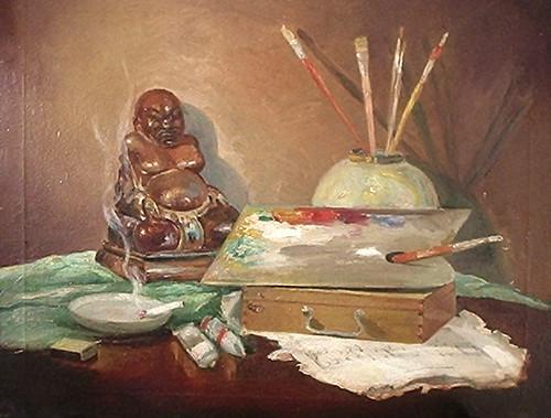 Composição numa mesa - déc de 10 - Anita Malfati