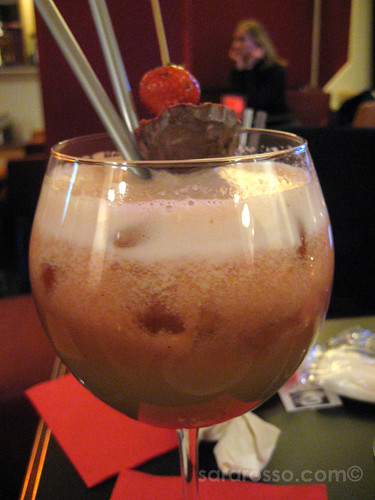 Non-alcoholic Fruit Cocktail for Aperitivo Italiano in Italy