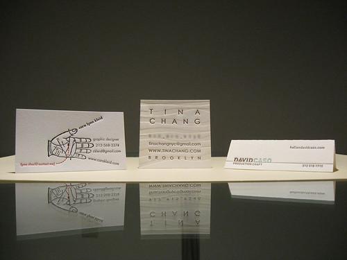 Cool Letterpress Business Cards