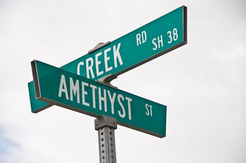 Mentone Street Signs - Amethyst St.