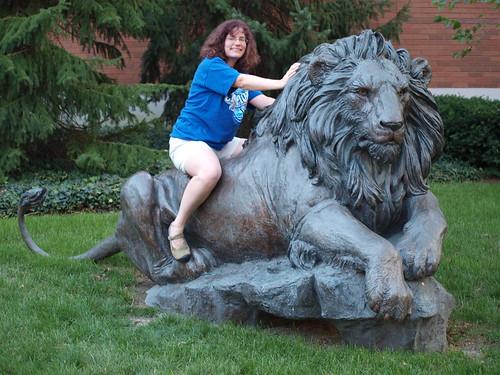 Stephanie and Lion