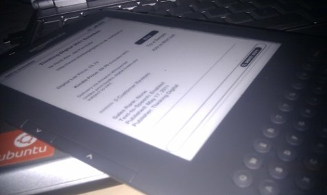 Thinking Digital Conference Schedule on a Kindle