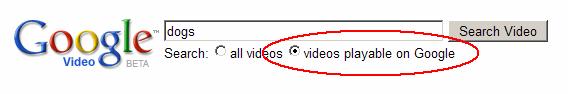 Videos Playable on Google
