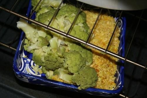 Brociflower, saffron rice