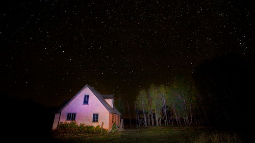 Light Painted House (Jacksonhole, WY)