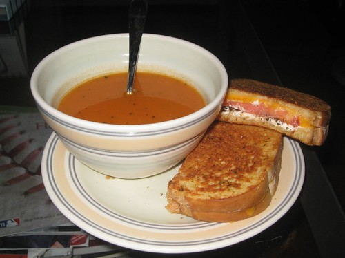 Tomato Soup and Grilled Cheese... The Perfect Remedy for the Common Cold