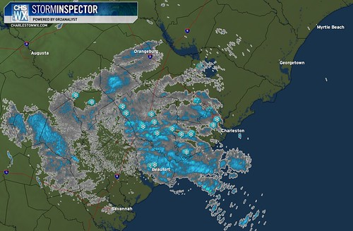 6:00 PM Radar Image, Snow Day in Charleston