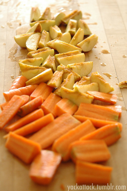 Chopped Apples and Carrots