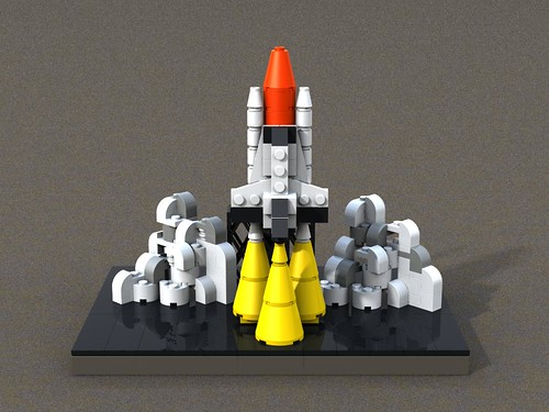 LEGO Space Shuttle launch