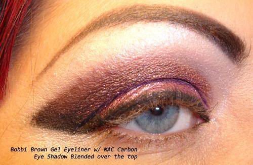 Bobbi Brown Gel Eyeliner - MAC Carbon Eyeshadow