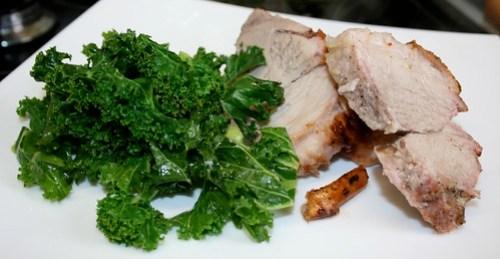 Roast Pork with Kale