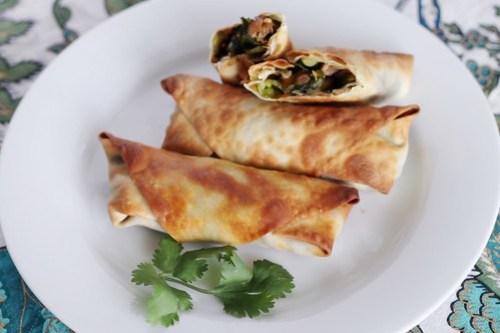 homemade vegetarian eggrolls
