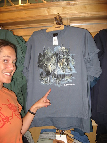 A wolf shirt not on amazon