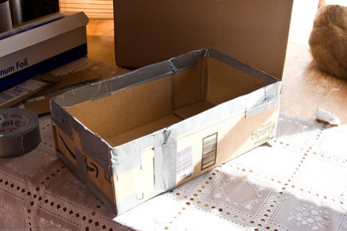 DIY Solar Oven: interior box