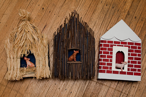 Altered Book Three Little Pigs