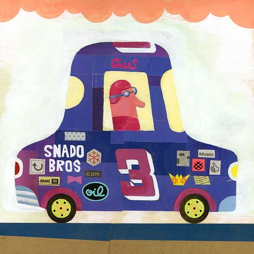 race car collage #3