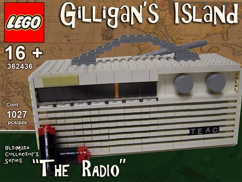 LEGO Gilligan's Island radio
