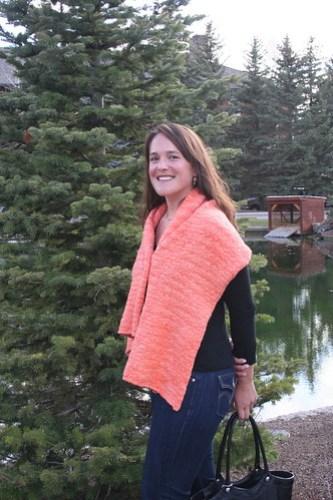 Love this orange wrap!