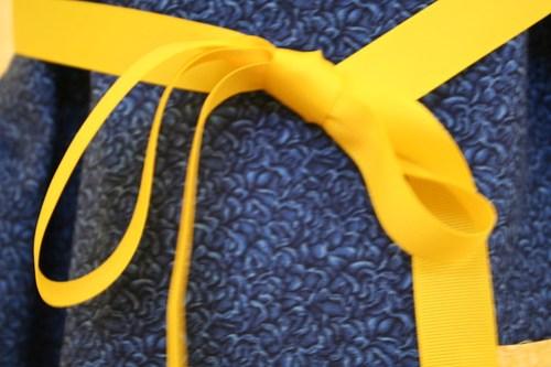 Ribbon belt sundress