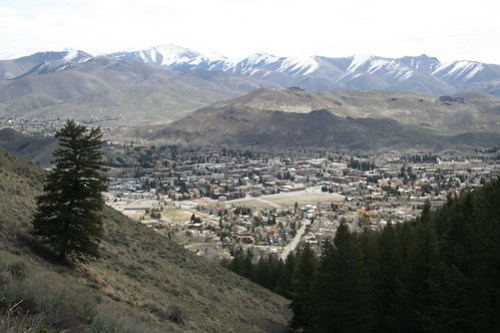 View of Ketchum from Baldy Mtn