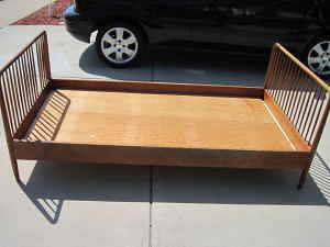 vintage danish twin bed