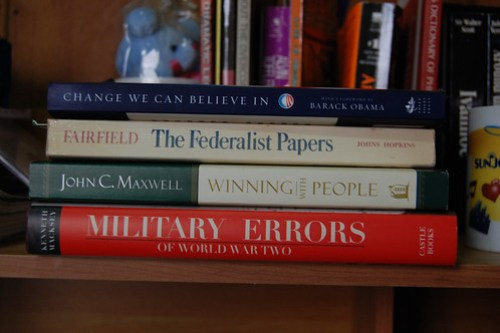 My initial stack of books for this years reading list.