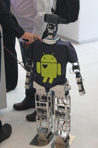 Robot with a t-shirt