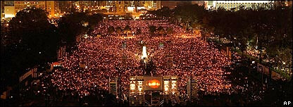 Hong Kong for Tiananmen Vigil