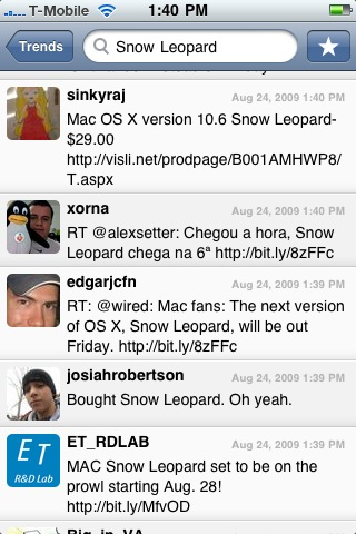 Snow Leopard trending because it releases on the 28th